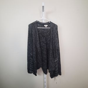 Style & Co Sweaters - STYLE & CO Marled Draped Front Cardigan